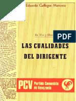 Cualidades Del Dirigente - Eduardo Gallegos Mancera