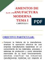 TEMA I -Historia de La Manufactura