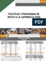 POLÍTICAS Y PROGRAMAS DE APOYO A LA CAPRINOCULTURA