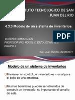 4.3.3 Modelo de Un Sistema de Inventarios