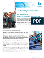 I Love My Physio - Competition Winner Announced