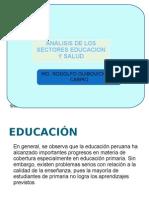 Analisis Educacion, Salud y Vivienda