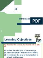 IMCI Session 6 - Immunization