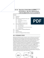 Transaction Processing System I - Human Resource and Marketing Management