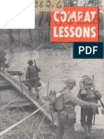 Army Combat Lessons ~ Jul 1944