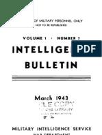 Intelligence Bulletin ~ Mar 1943