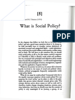 Titmuss - What is Social Policy