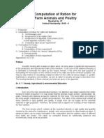 Computation of Ration for Farm Animals-037