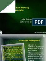 Presentation of Why Sustainability Reporting presented at CII Karnataka