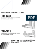 Th-s11, Th-ss3 Dvd Jvc Manual