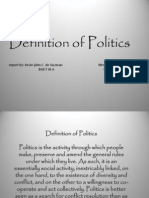 Definition of Politics