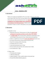 Administrative Instructions - Splashdown 2012