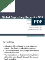 Global Depositary Receipt - GDR