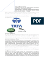 Case Study of Tata Motor Acquisition of Jaguar and Land Rover