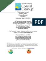 2012 International Coastal Cleanup Flier 8.16