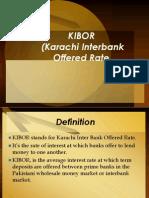 KIBOR Presentation