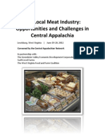 The Local Meat Industry - Opportunities and Challenges in Central Appalachia