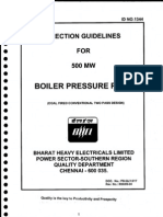 Erection Guidelines for 500 Mw Boiler Pressure Parts