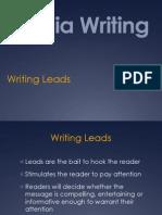 Writing Leads PowerPoint by Glenn Gilbert