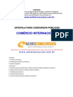 Apostila de Comércio Internacional para Concursos