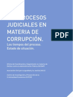 Informe CIPCE ACIJ OCDAP - Los procesos judiciales en materia de corrupción