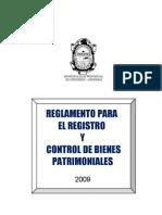 Plan_11857_reglamento Para El Registro y Control de Bienes_2009