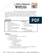 0.01 (T) - Classroom Expectations and Procedures WKST