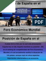 Posición  de españa en el foro económico mundial