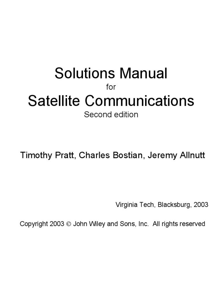 Satellite Communication Pratt Ebook