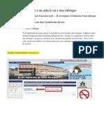 Joindre un document à un article ou à une rubrique