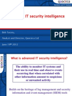 Advanced IT security intelligence