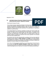 2012 Security and Hospitality RFP