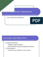 Obj. 3 Quadratic Equations (Presentation)