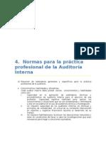 Normas para la práctica profesional de la Auditoría Interna