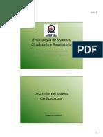 Embriología de Sistemas Circulatorio y Respiratorio