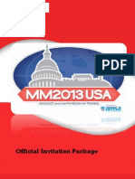 MM2013 USA | Official Invitation Package