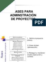 Fases Administracion de Un Proyecto