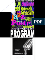 Jazz Poetry 2012 PROGRAM