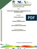 Aspectos Contables y Financieros en Las Organizaciones