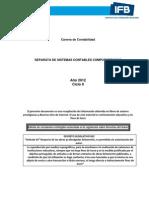 SISTEMAS CONTABLES COMPUTARIZADOS -2012