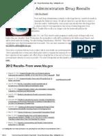 Food and Drug Administration Drug Recalls