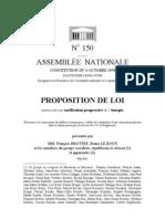 Proposition de loi sur les tarifs progressifs de l'énergie
