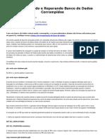 Diagnosticando e Reparando Banco de Dados Corrompidos