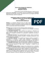 ORDENANZA ACTIVIDADES ECONÓMICAS CHACAO
