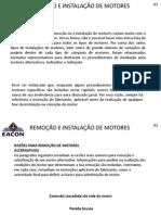 REMOÇÃO E INSTALAÇÃO DE MOTORES