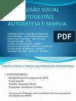 INCLUSÃO SOCIAL - propostas do grupo 2011