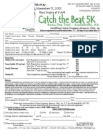 Catch the Beat 5K Registration Form