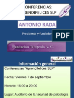 Conferencias AR Telegenio Slp