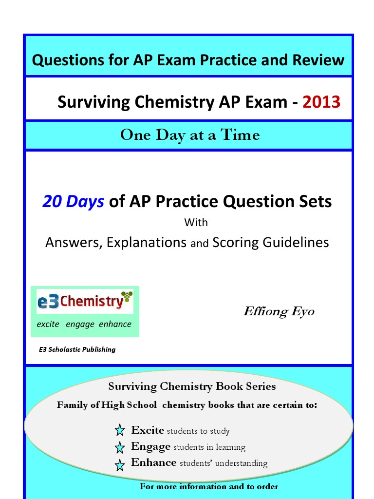 Surviving Chemistry: Questions for Chemistry AP Exam Practice and Review |  Mole (Unit) | Molecules