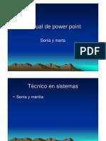 Manual de Powert Point Sonia